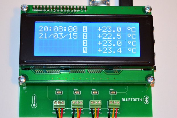 4CH Temperature Data Logger Bluetooth