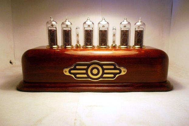 Vintage Style Nixie Clock on IN-14 tubes