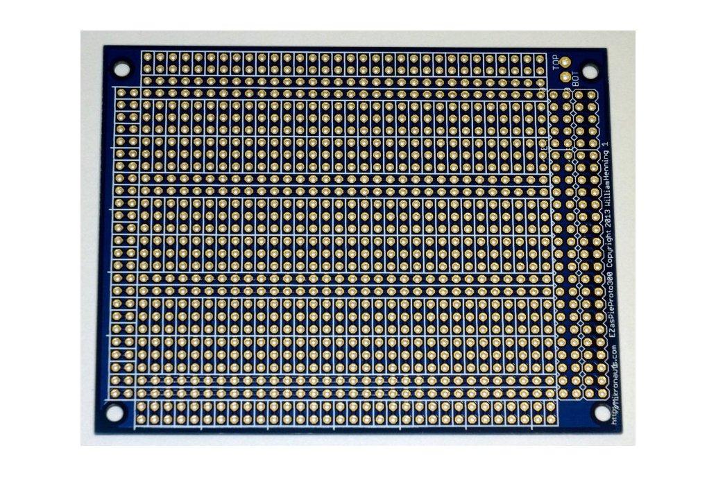 EZasPieProto300 large bussed prototyping board 1