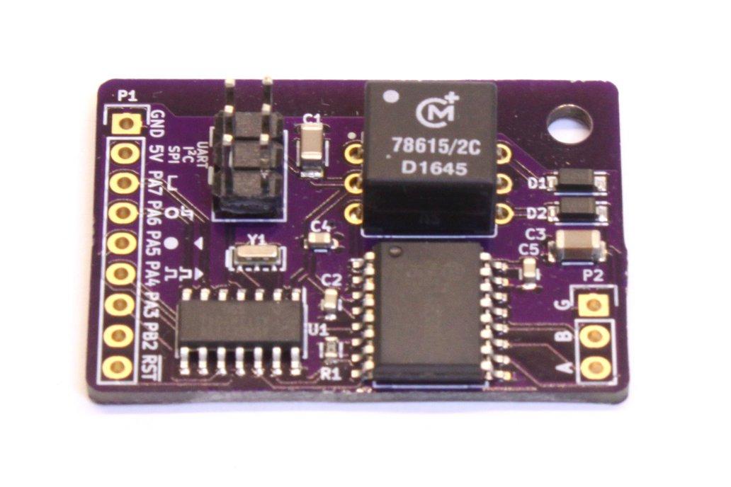 RS-485 Isolated ATtiny841 Board 1