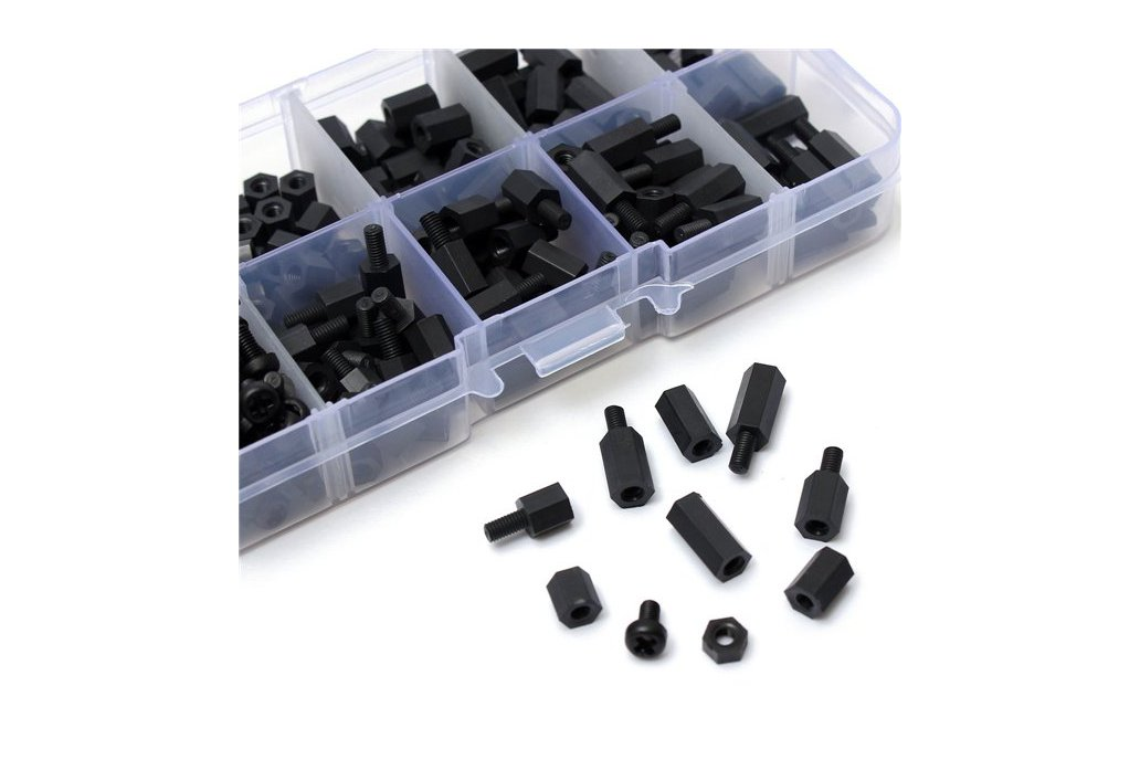 Suleve™ M3NH1 M3 Nylon Screw Black Hex Screw 1
