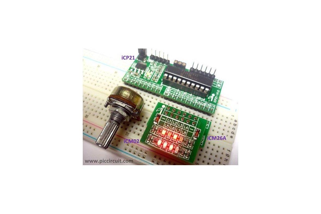 iCP21- Microchip 8, 14 & 20 pins PIC16  IO Board 8