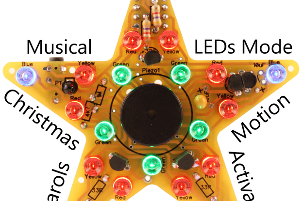 PicoStar Musical Christmas Star - Soldering Kit