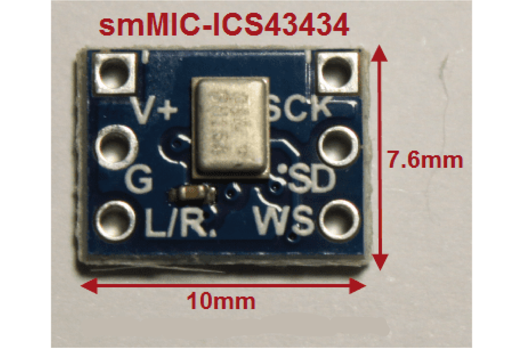 smMIC-ICS43434 Digital I2S Output Microphone 1