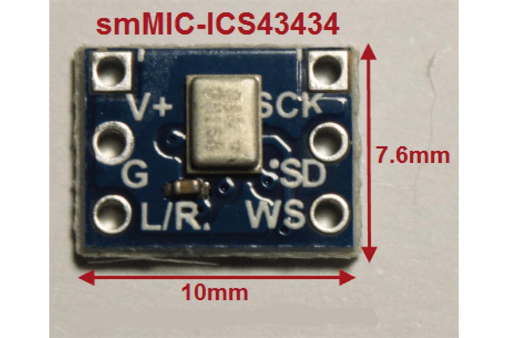 smMIC-ICS43434 Digital I2S Output Microphone 1