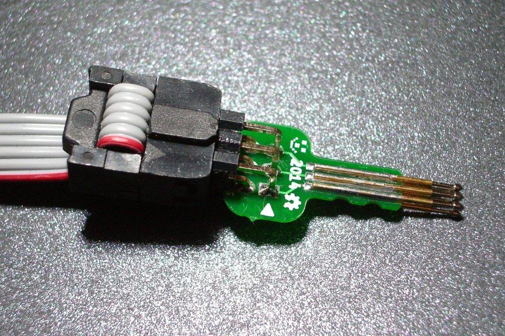 Tiny AVR-ISP pogo-pin programming adapter 2