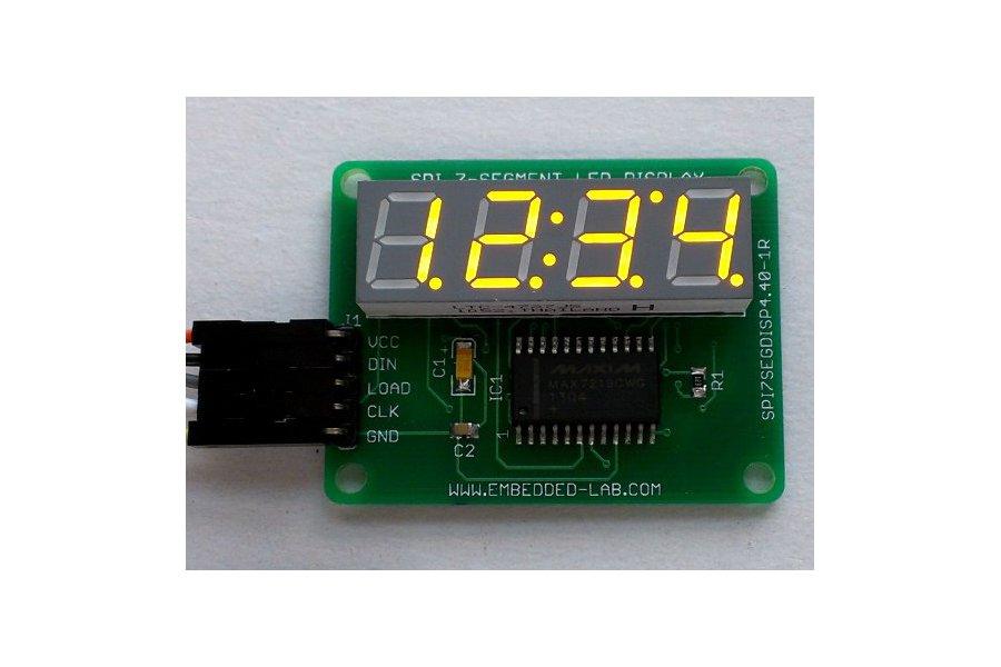 SPI 4-digit seven segment LED display