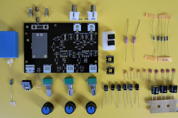 LM386 stereo amplifier with bass boosting DIY kit