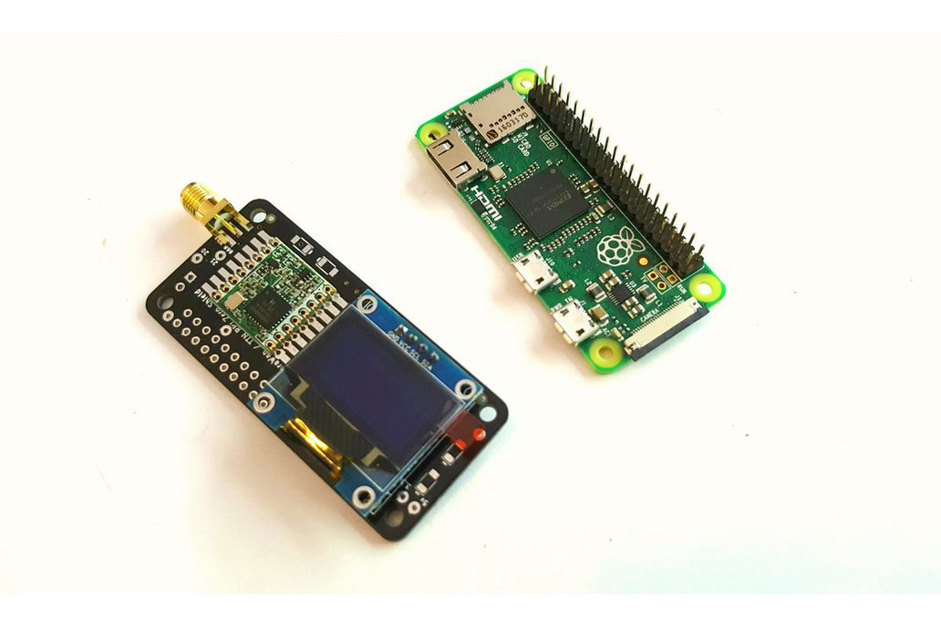 Raspberry PI0W Lora Shield with I2C and OLED 4