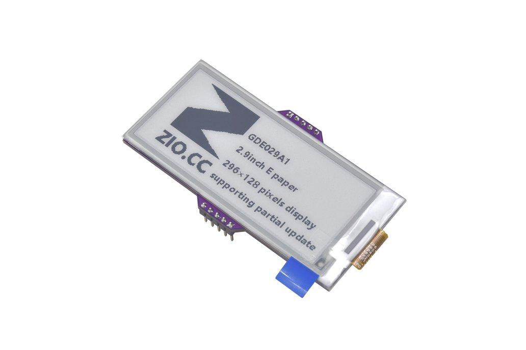 Zio E-Ink Display (2.9 in, 296x128 pixels 2 Grey) 1