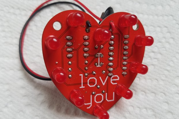 Heart-Shaped LED Chaser