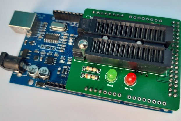 Simple EEPROM Programmer shield for Arduino Mega