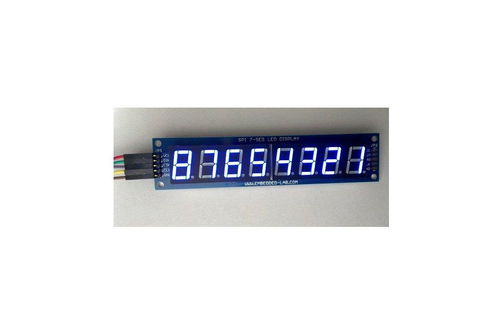 """Serial 8-digit 7-segment LED display (Blue, 0.56"""") 1"""