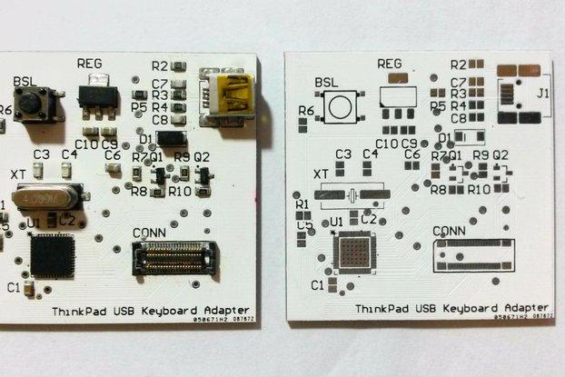 ThinkPad USB keyboard adapter v0.6.2 (PCB+receptacle)
