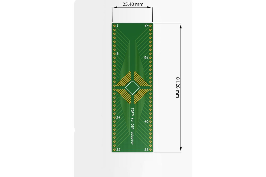 QFP/TQFP/LQFP/FQFP to DIP adapter for e.g. Xmega 1