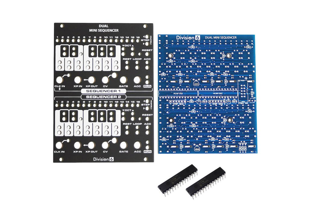 Division 6 Dual Mini Sequencer PCB, Panel and ICs 1