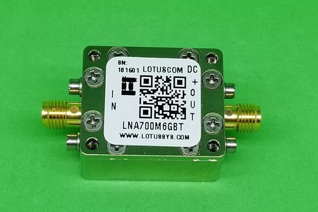 Broadband LNA 0.4dB NF 0.7~6GHz with Bias Tee