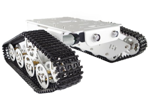 T300 Metal Wall-E Caterpillar Tank Chassis