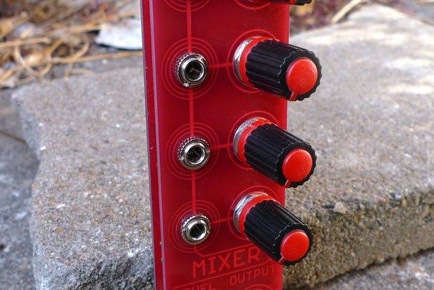 Redshift 4 channel mixer Eurorack module