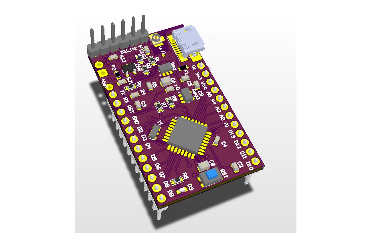 LoDuino - Low power Arduino with Lora radio u.fl