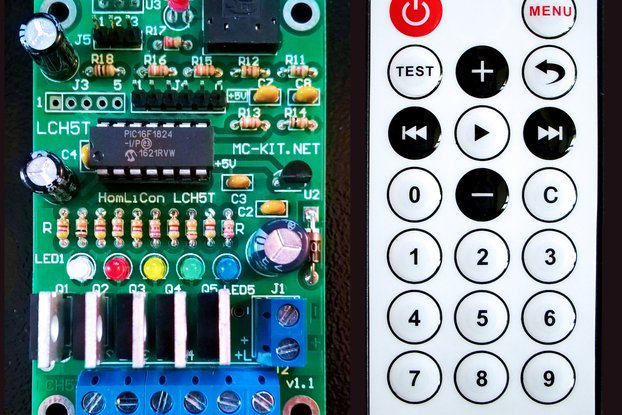 Color Organ 5 Channel PWM Controller LCH5T