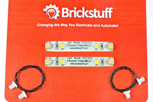 Warm White LED Strip and Connecting Cable (2-Pack)