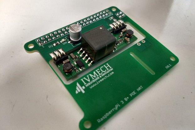 Power Over Ethernet HAT for Raspberry Pi3 Model B+