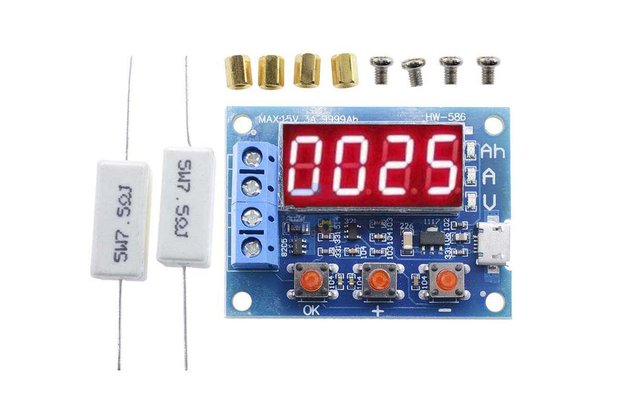 HW-586 18650 Lithium Battery Capacity Tester