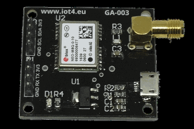 GA-003 NEO-M8 based GNSS receiver dev board