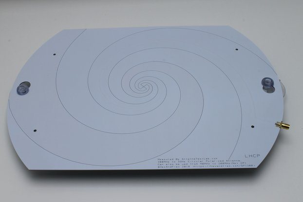300MHz+ Log Spiral Antenna with Suction Mounts