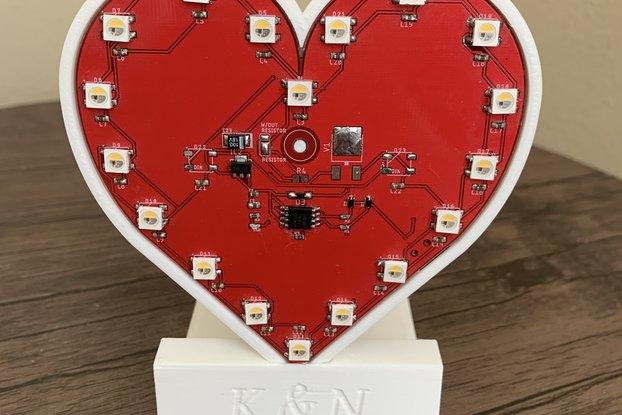 PCB Heart Valentine Gift