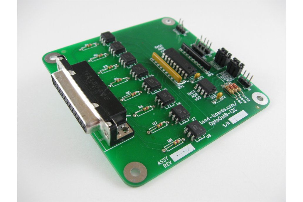 Eight opto-isolated output card (OptoOut8-I2C) 1