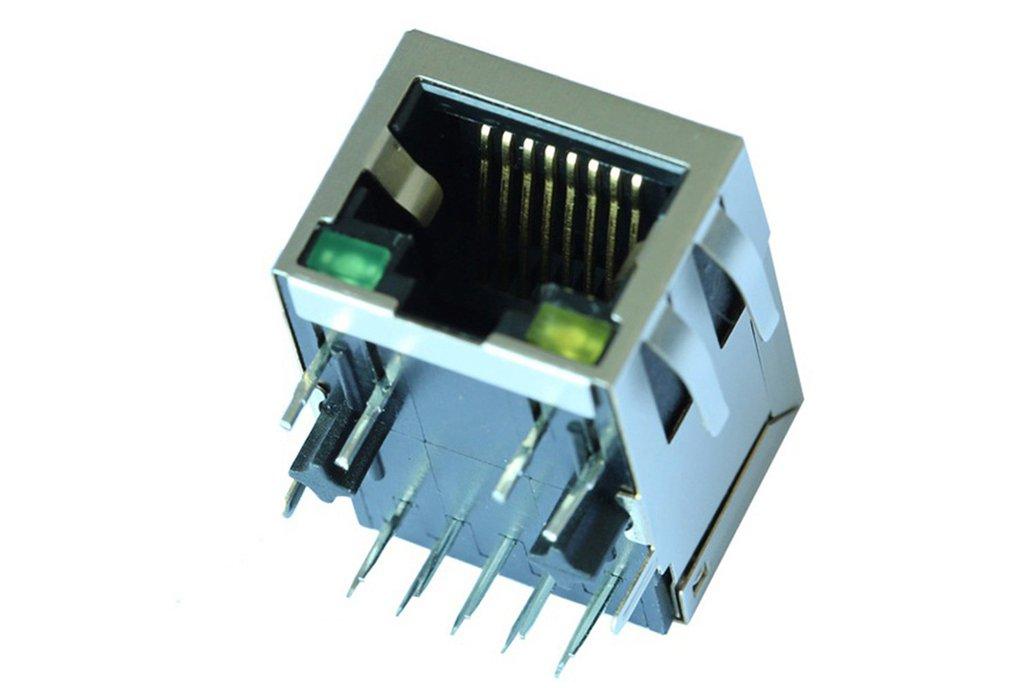J1B121ZDD 10/100 Base-T 1 Port Ethernet RJ45 Jack 1