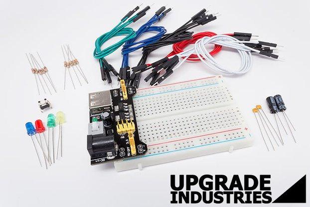 46pc Solderless PCB Breadboard Wiring Proto Kit