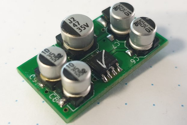 Single voltage audio preamplifier