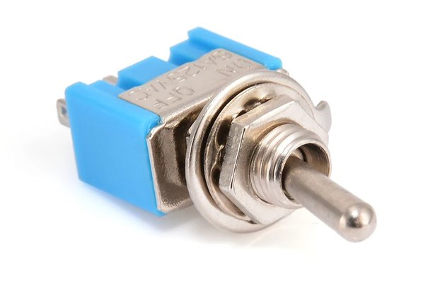 Mini Toggle Switch SPST OFF-ON 6A 125VAC / 3A VAC