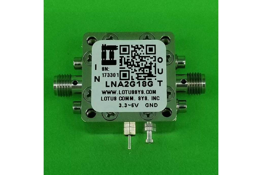 Amplifier LNA 1.4dB NF 2GHz to 18GHz 20dB Gain 1