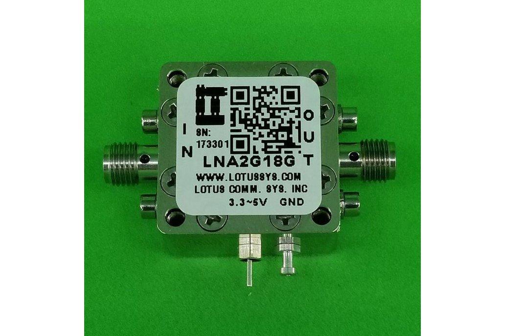 Amplifier LNA 1.4dB NF 2GHz to 18GHz 20dB Gain 1