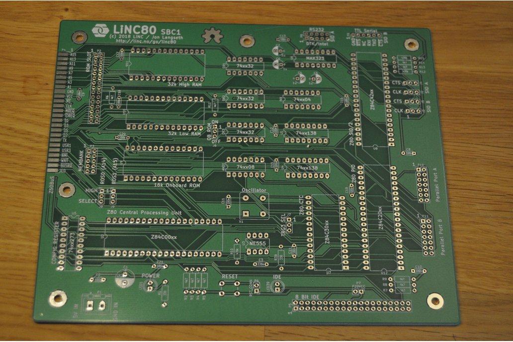 LiNC80 SBC1 - PCB Only - Homebrew microcomputer 1