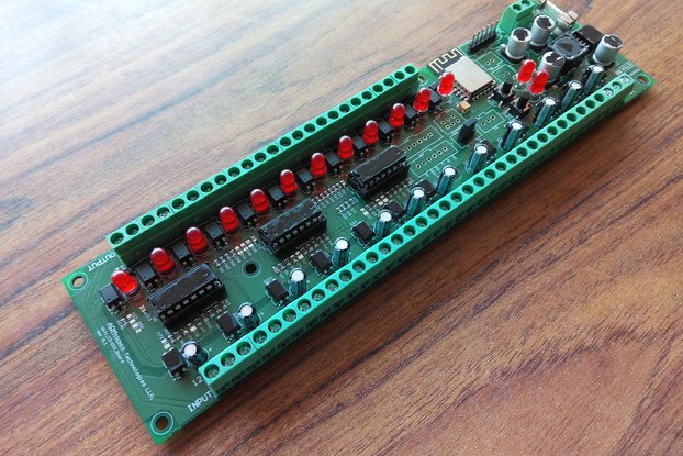 IA009: Wifi 12 Digital Input, output Board