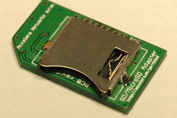 SecureSD - Raspberry Pi model 1 MicroSD adapter