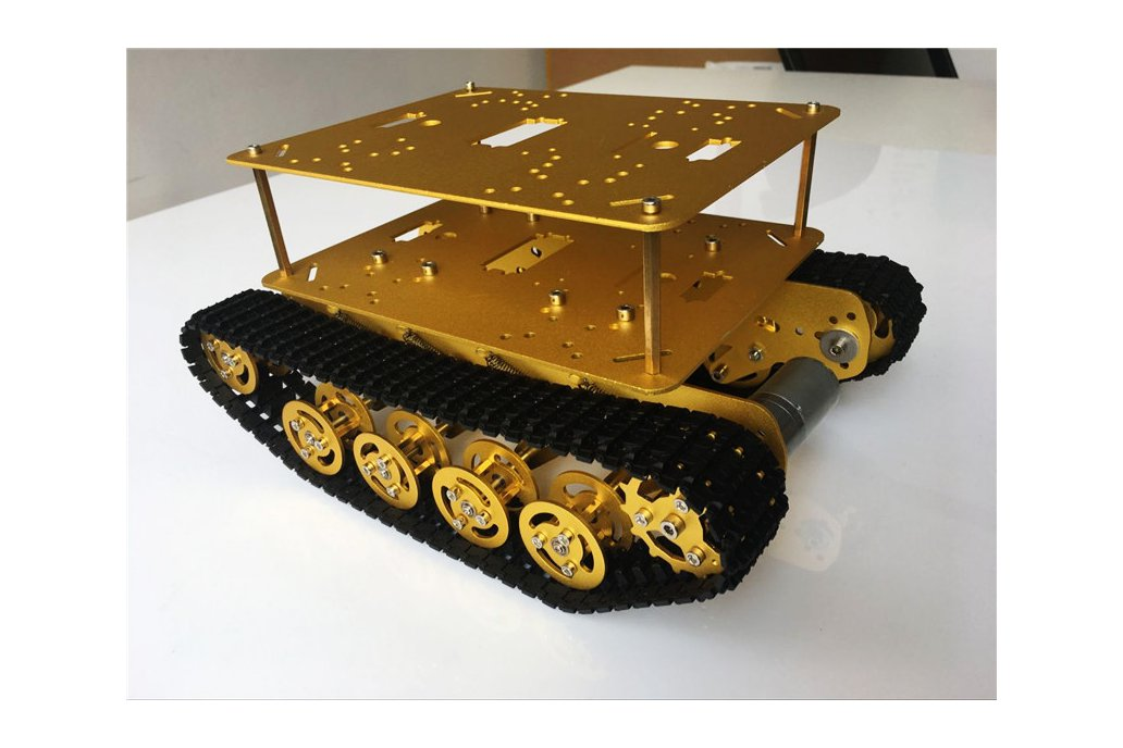 Double Panel Metal Shock Absorption Robot Tank Car 8