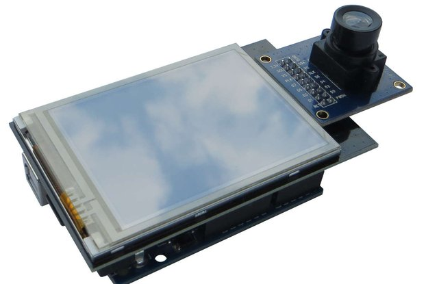 "2.8"" TFT with camera input port Arduino shield"