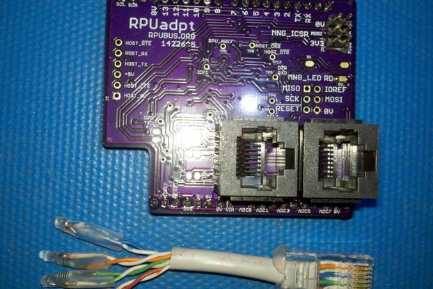RPUadpt - a shield for RS-422 over CAT5