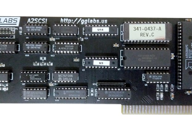 A2SCSI - SCSI Card for Apple II IIgs IIe II+