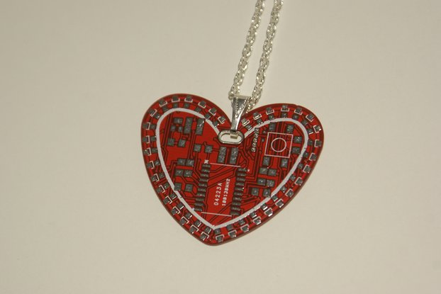 TechHeart Neck Charm - PCB