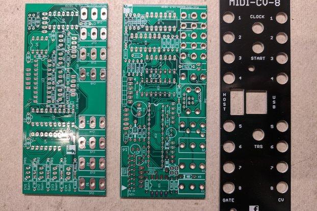 8 Voice MIDI-CV Converter (Eurorack PCB Set)