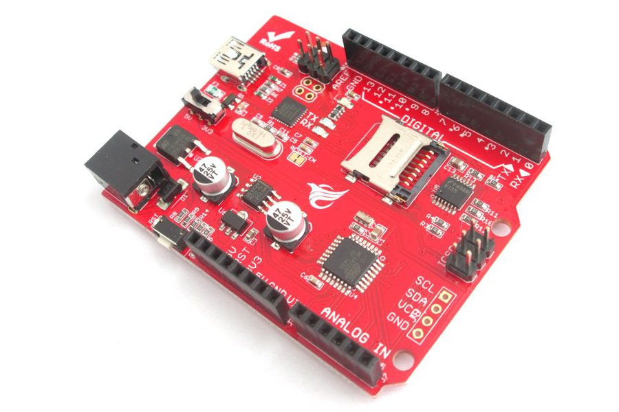 Arduino development board with on-board SD slot