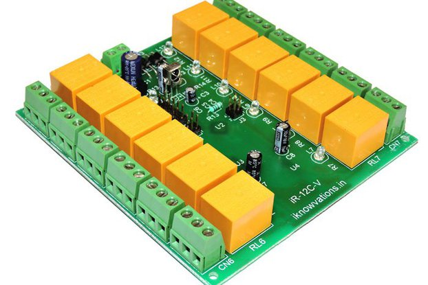 12 ch programmable IR remote relay card