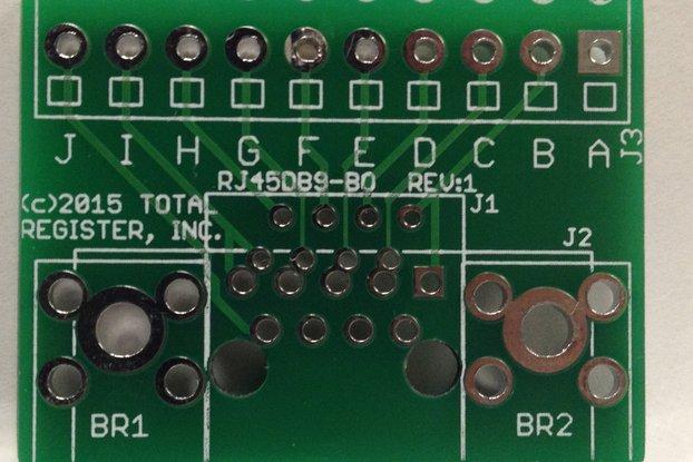 RJ45/DB9 Breakout board (BLANK PCB)